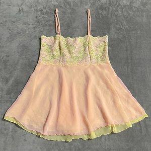 Victoria's Secret Lace Semi-Sheer Layered Chemise!